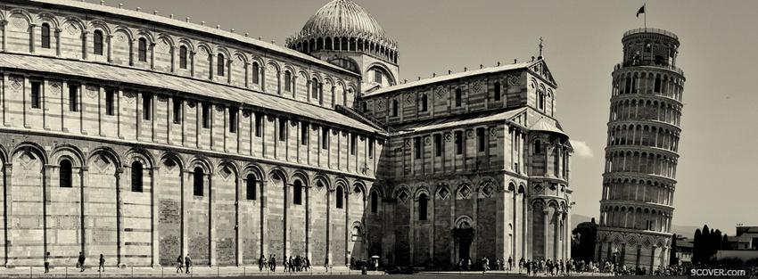 Photo pisa italy city Facebook Cover for Free