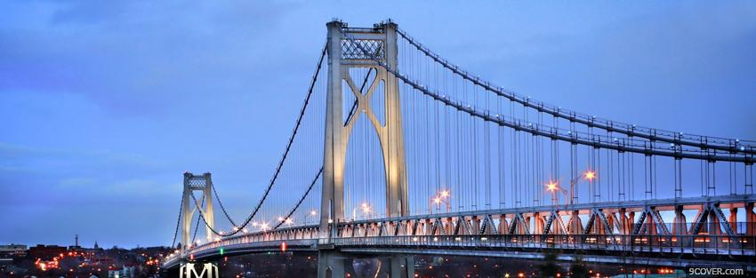 Photo new york city bridge Facebook Cover for Free