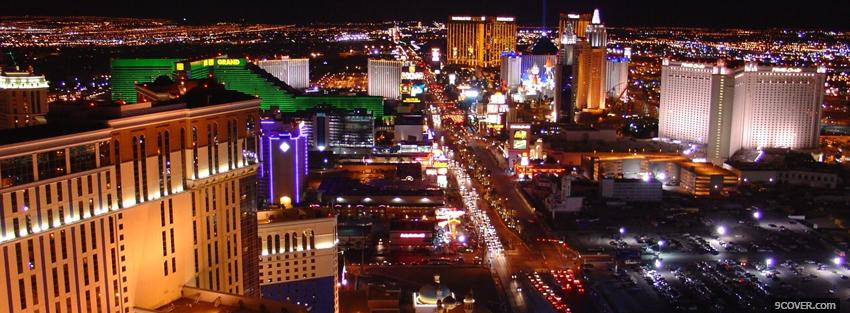 Photo strip las vegas city Facebook Cover for Free