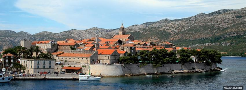 Photo korcula city Facebook Cover for Free