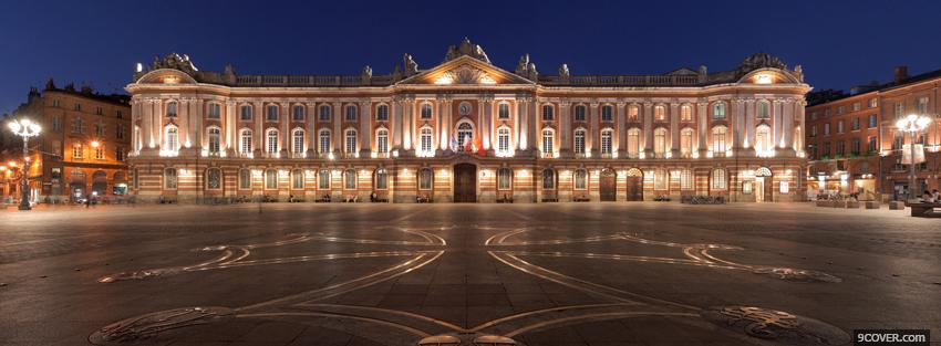 Photo toulouse capitole city Facebook Cover for Free