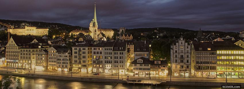 Photo zurich city Facebook Cover for Free