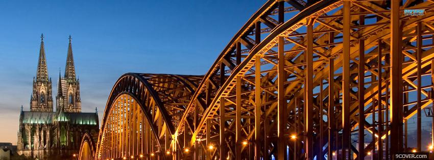 Photo hohenzollern bridge germany city Facebook Cover for Free