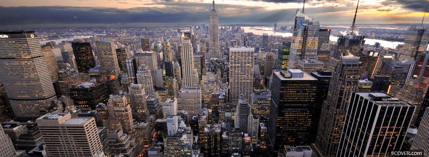 Photo new york city day Facebook Cover for Free