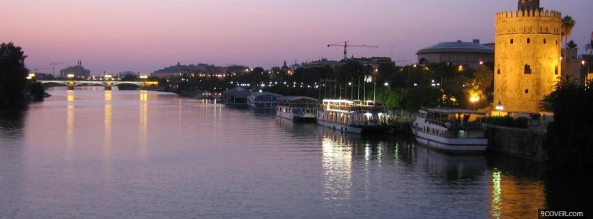 Photo sevilla spain city Facebook Cover for Free