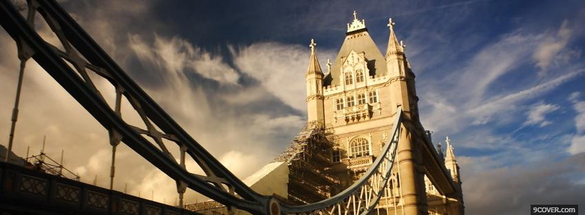 Photo towe bridge london city Facebook Cover for Free