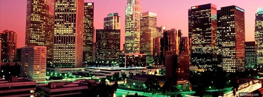 Photo los angeles city Facebook Cover for Free