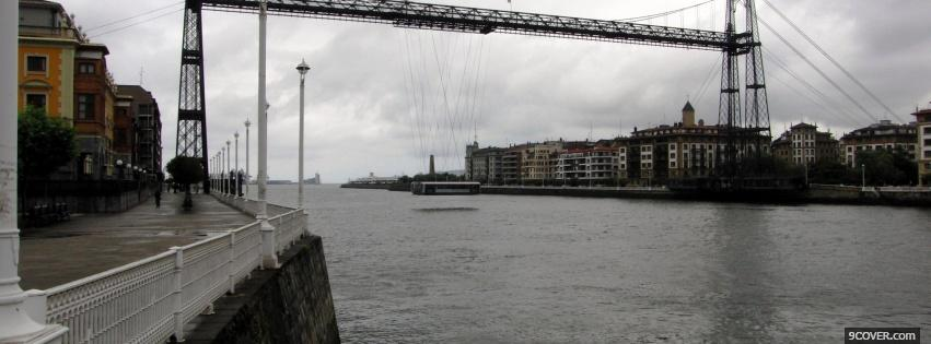 Photo portugalete city Facebook Cover for Free