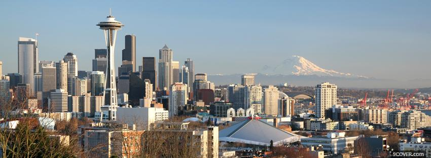 Photo seattle washington city Facebook Cover for Free