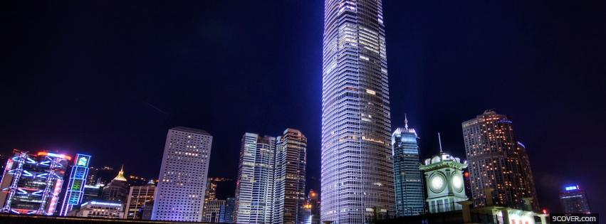 Photo tall buildings city Facebook Cover for Free