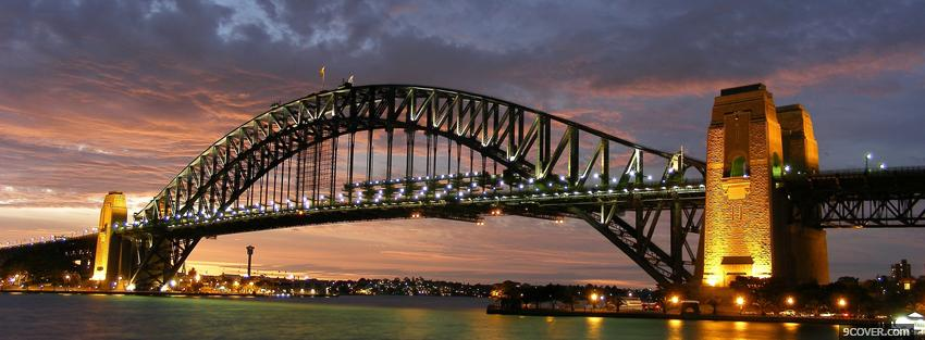 Photo sydney bridge city Facebook Cover for Free