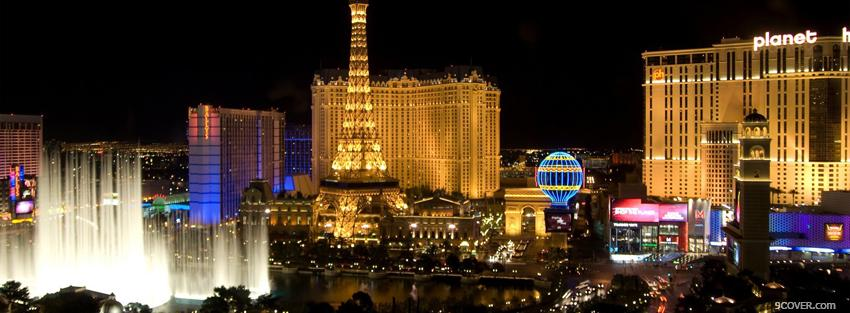 Photo fun las vegas city Facebook Cover for Free