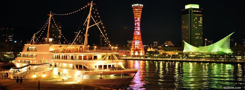 Photo kobe japan city Facebook Cover for Free