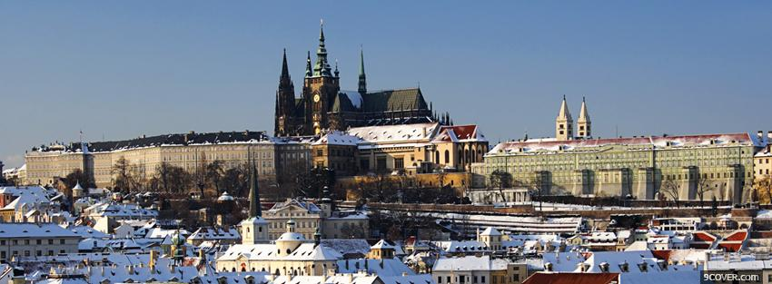 Photo prague city Facebook Cover for Free