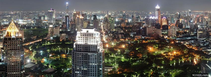 Photo thailand bangkok city Facebook Cover for Free