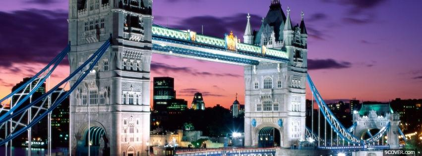 Photo tower bridge england city Facebook Cover for Free