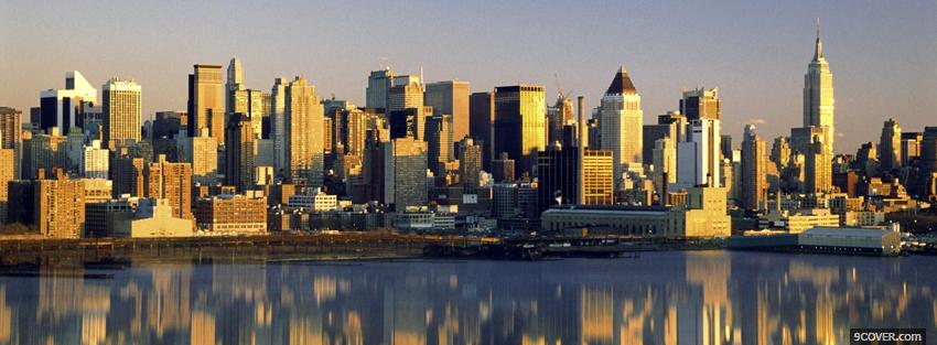 Photo new york urban city Facebook Cover for Free