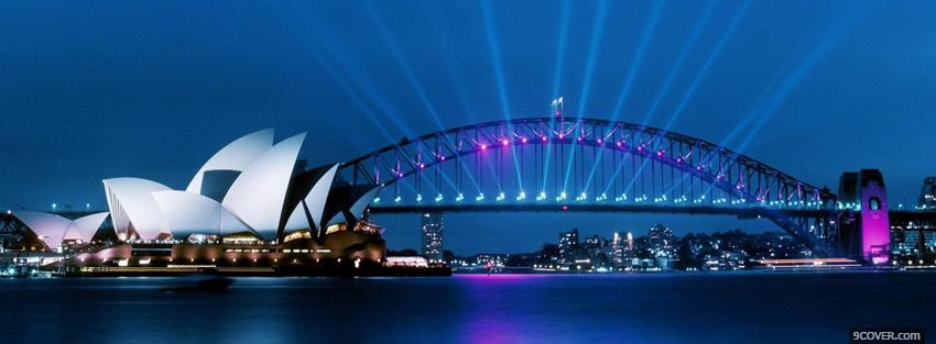 Photo sydney harbour bridge Facebook Cover for Free