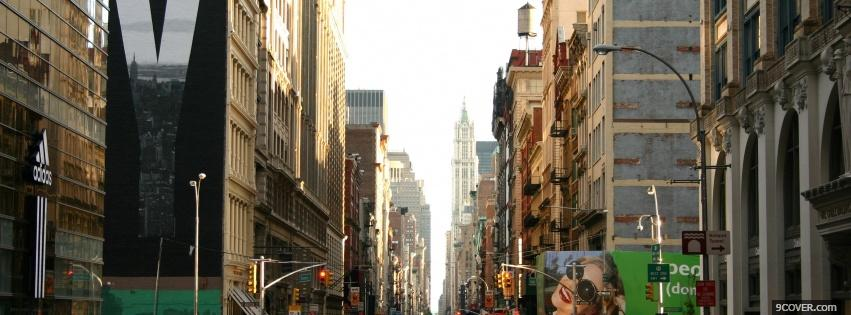 Photo new york in the day Facebook Cover for Free