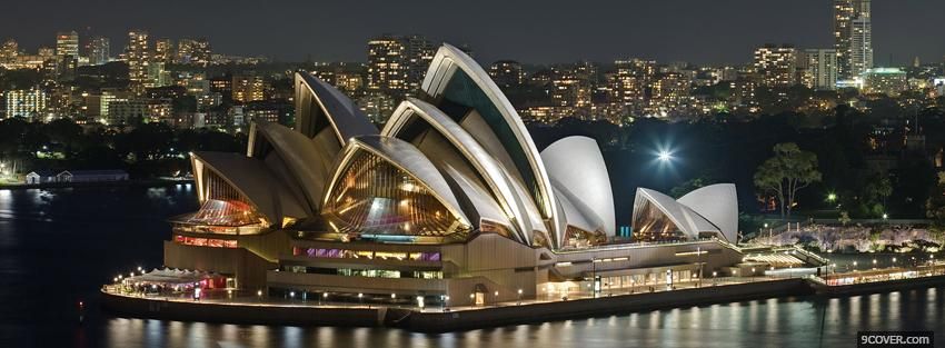 Photo sydney opera house city Facebook Cover for Free