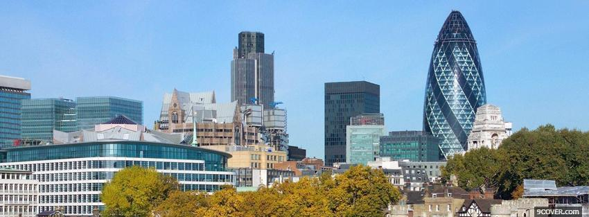 Photo swiss re tower city Facebook Cover for Free
