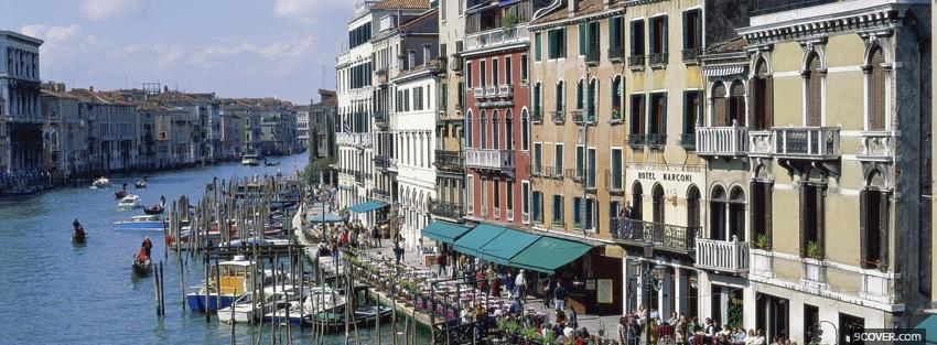Photo venice city italy Facebook Cover for Free