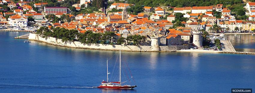 Photo korcula croatia city Facebook Cover for Free