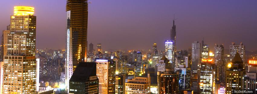 Photo nanjing china city Facebook Cover for Free