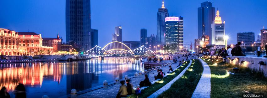 Photo tianjin china city Facebook Cover for Free