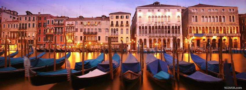 Photo venice beautiful city Facebook Cover for Free