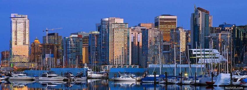 Photo vancouver canada city Facebook Cover for Free