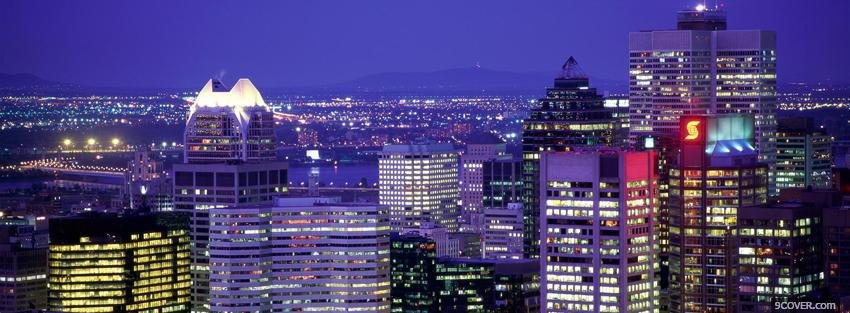 Photo quebec montreal city Facebook Cover for Free