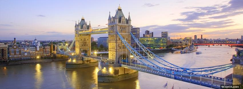 Photo tower bridge city Facebook Cover for Free