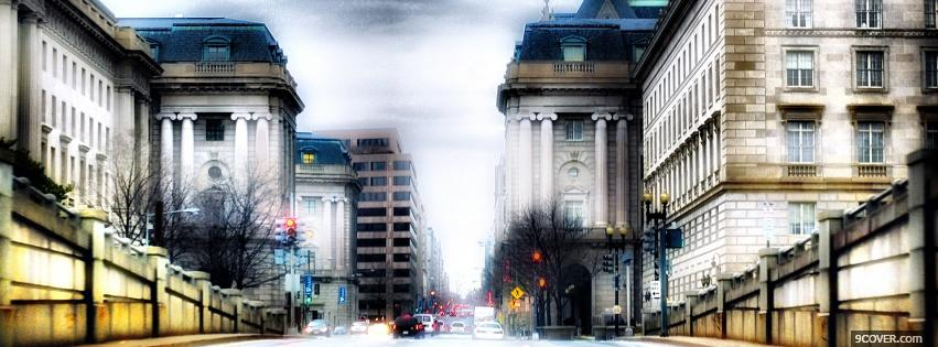Photo washington dc city Facebook Cover for Free