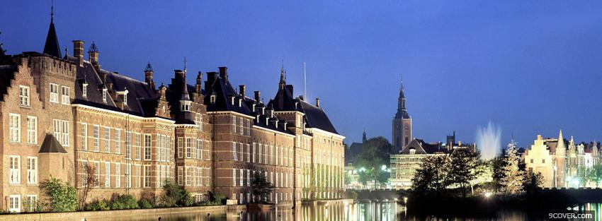 Photo hague netherlands city Facebook Cover for Free