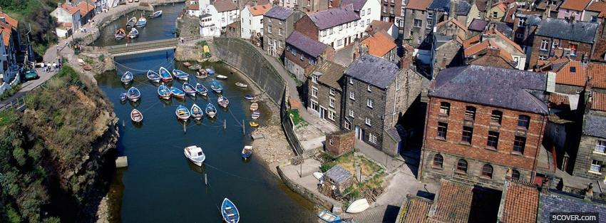 Photo whitby england city Facebook Cover for Free