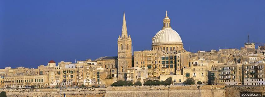 Photo malta europe city Facebook Cover for Free