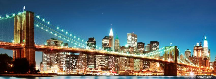 Photo new york buildings Facebook Cover for Free