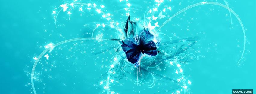 Photo sparkling butterfly Facebook Cover for Free