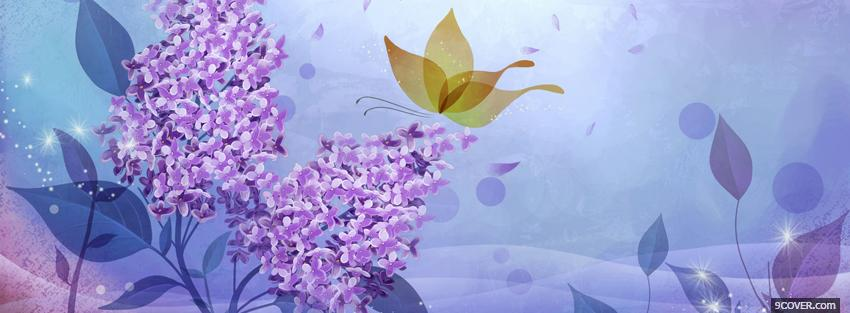 Photo lilac flowers creative Facebook Cover for Free