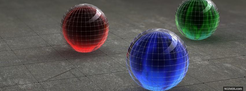 Photo red blue green balls Facebook Cover for Free