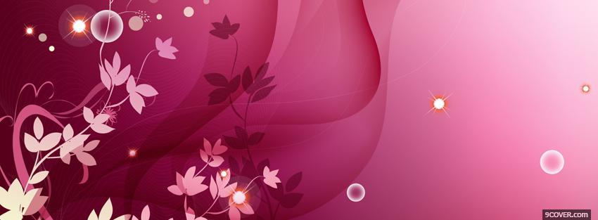 Photo fusia flowers creative Facebook Cover for Free