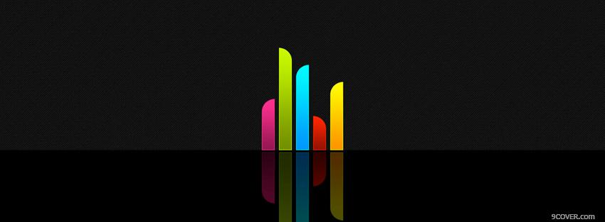Photo colorful lines creative Facebook Cover for Free