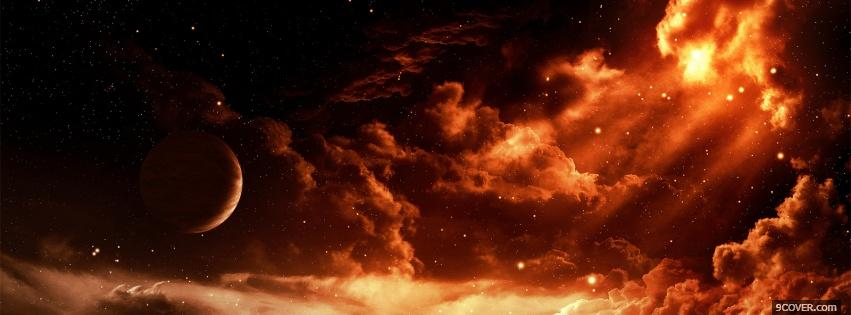 Photo clouds in space creative Facebook Cover for Free
