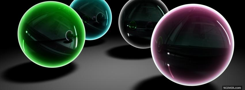 Photo balls colors creative Facebook Cover for Free
