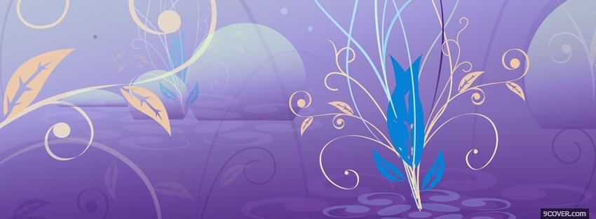 Photo purple and flowers creative Facebook Cover for Free