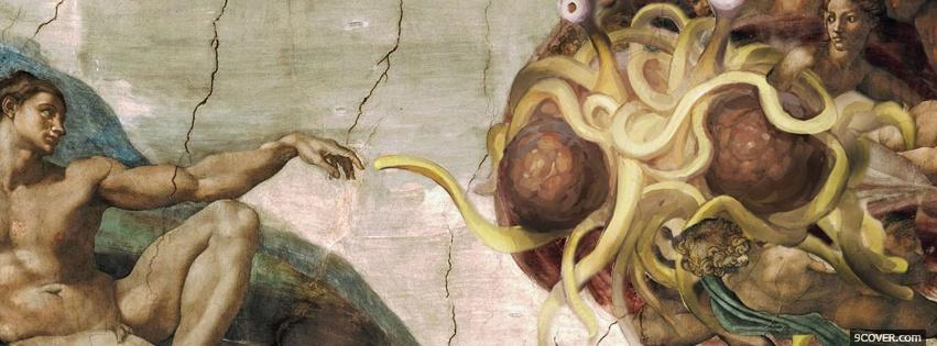 Photo flying spaghetti monster creative Facebook Cover for Free