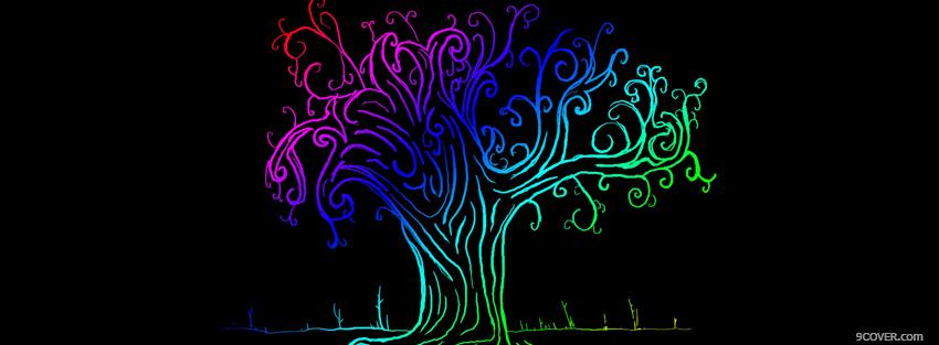 Photo drawed tree creative Facebook Cover for Free