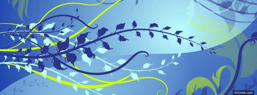 Photo flowing branch creative Facebook Cover for Free