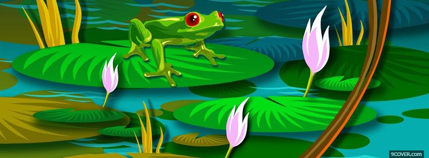 Photo frog nature creative Facebook Cover for Free